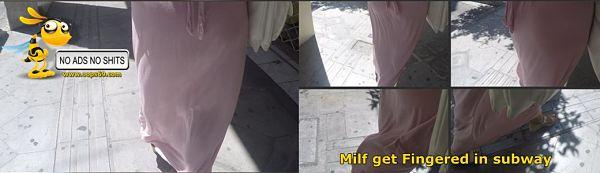 Milf walking no panties
