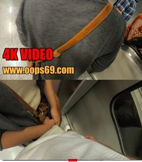 Woman touch dick in train